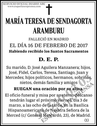 María Teresa de Sendagorta Aramburu